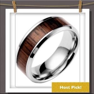 Other - 🆑 1 left! Men's Silver and Woodgrain Ring